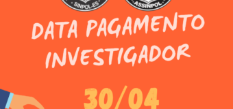 DATA DE PAGAMENTO INVESTIGADOR